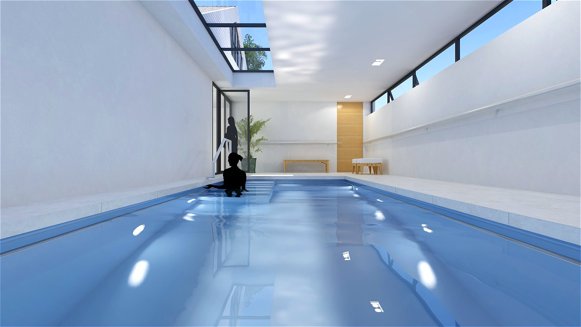 Jury ontwerpt binnenzwembad aan woning jury for Binnenzwembad bouwen