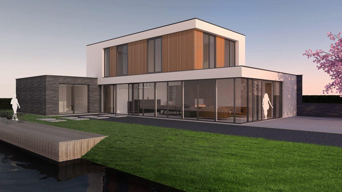 Eerste paal moderne villa in Naaldwijk (Westland)