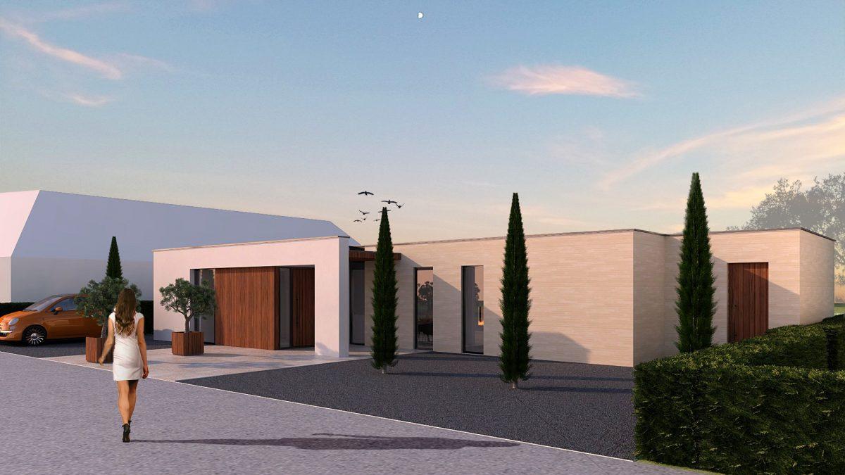 JURY! ontwerpt moderne enkellaagse villa in Nootdorp