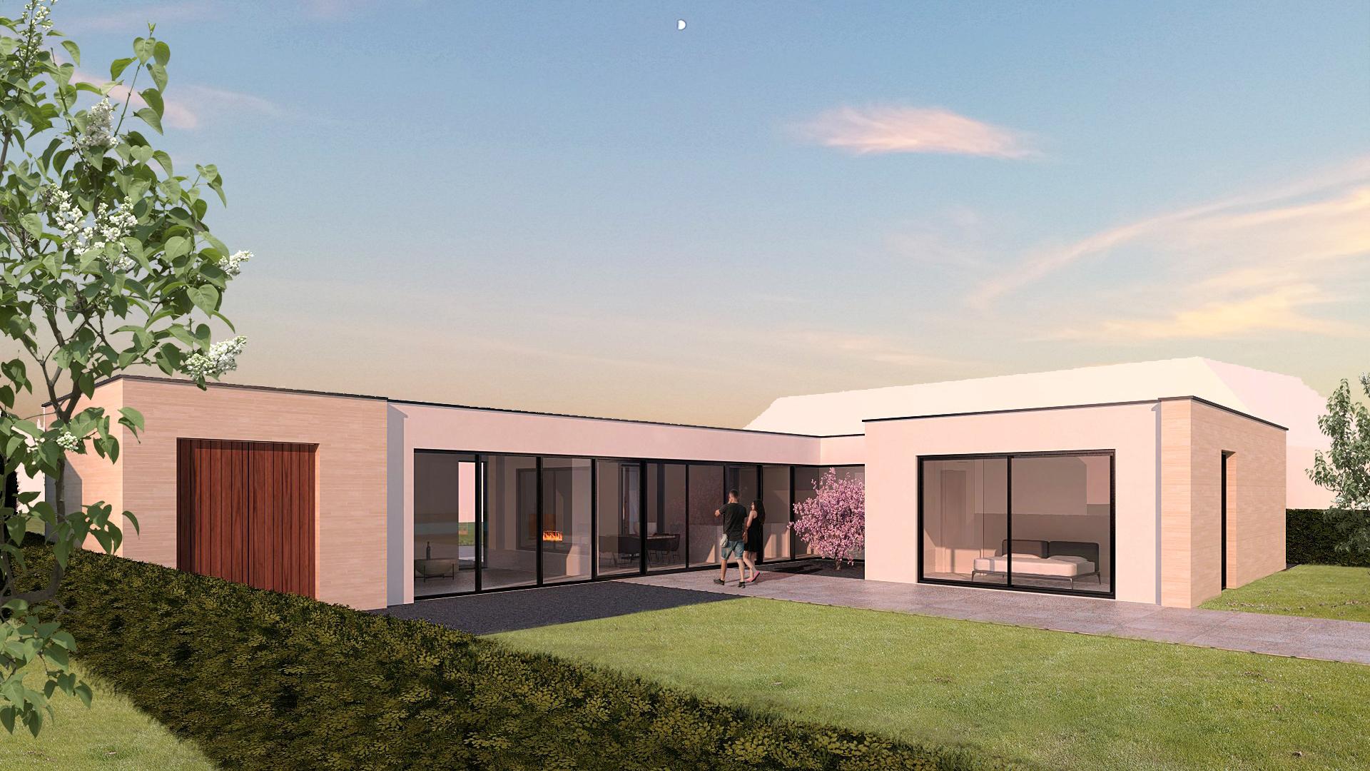 Moderne villa Nootdorp - JURY! architecture urbanism and design tuinzijde