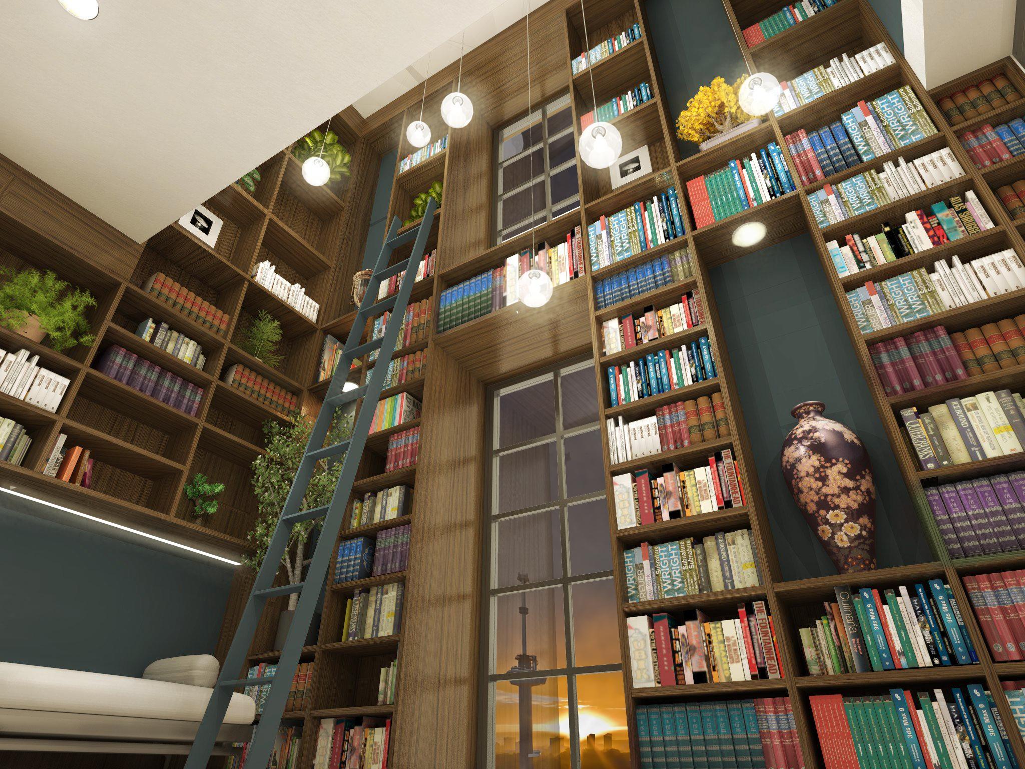 Bibliotheek over 2 lagen