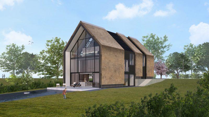 JURY! ontwerpt splitlevel schuurwoning in Hillegersberg Rotterdam