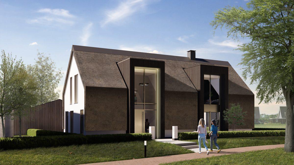 JURY! ontwerpt moderne hybride schuurwoning met dubbele risaliet in Wilgenrijk